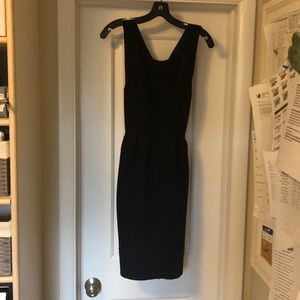 J-crew Maeve Black Quilted Dress